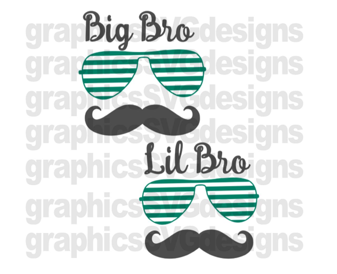 Big Bro Little Bro Digital Download Svg Dxf Png Cutting File