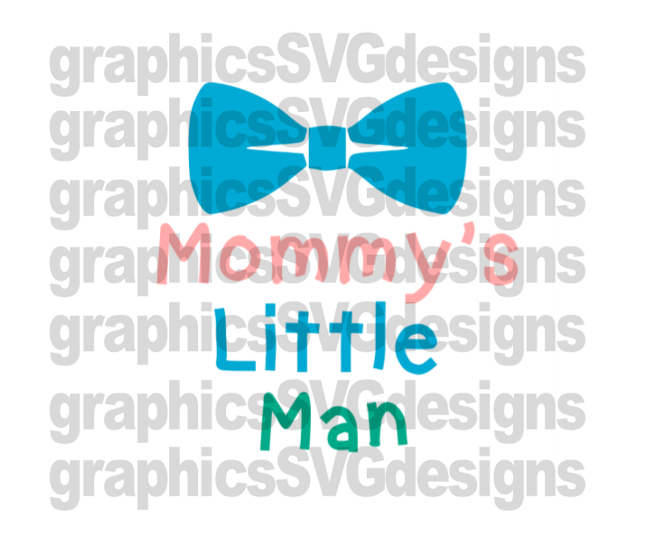 Mommy S Little Man Digital Download Svg Dxf Png Cutting File