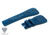 24mm Dark Blue Alligator Crocodile Handmade Straps For Bell & Ross