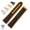 Canvas Rubber Watch Band Straps For OMEGA Seamaster Planet Ocean 600M + Tools