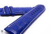 24mm Blue Real Alligator Crocodile Handmade Straps For Panerai PAM Watches