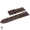24mm Dark Brown Real Alligator Crocodile Handmade Straps For Panerai Watches