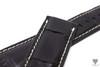 24mm Black Real Alligator Crocodile Handmade Straps For Panerai Watches