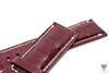 24mm Red Bordo Wine Real Alligator Crocodile Handmade Straps For Panerai Watches