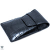 Alligator Crocodile Handmade Black Travel Pouch Case For Watches And Jewelry