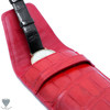 Alligator Crocodile Handmade Red Travel Watch Pouch Case For Watches And Jewelry