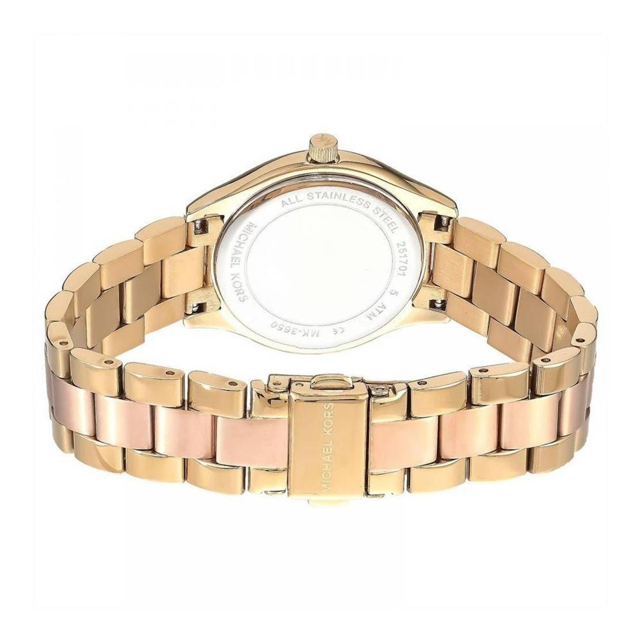 Michael Kors Mini Slim Runway Quartz Diamond Accent MK3650 Women's Watch
