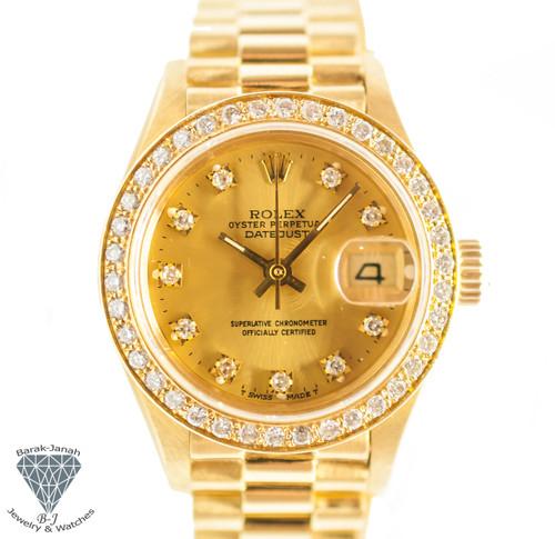 Rolex Lady DateJust Ref. 69178 18K Yellow Gold with Diamond bezel