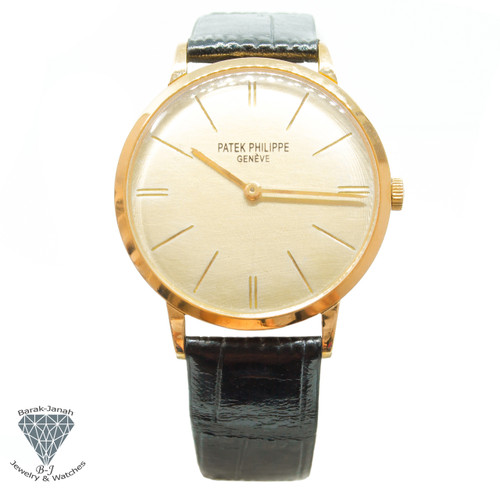 Patek Philippe Calatrava 3468 18k Yellow Gold Watch Cal 23-300 + Archives 1967