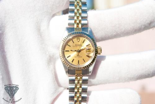 14K Vintage Rolex Tudor Princess OysterDate Ladies Watch Ref. No. 92413N