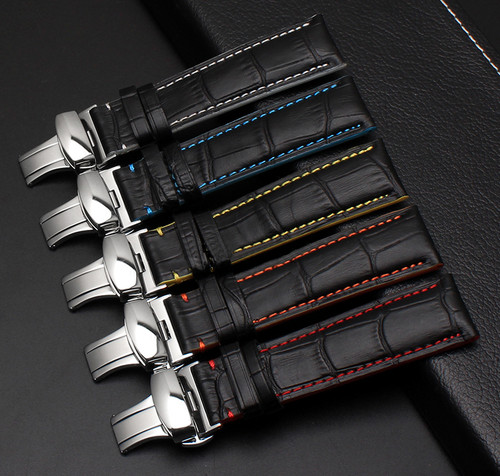 Leather Straps with Deployment Clasp + Tools