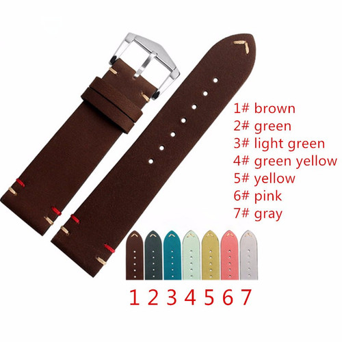 Vintage Calf Leather Straps  With Buckle + Tool