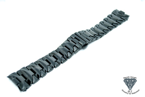 24mm Black PVD Steel Bracelet Watch Band For Panerai Luminor Watches 44mm +Tools