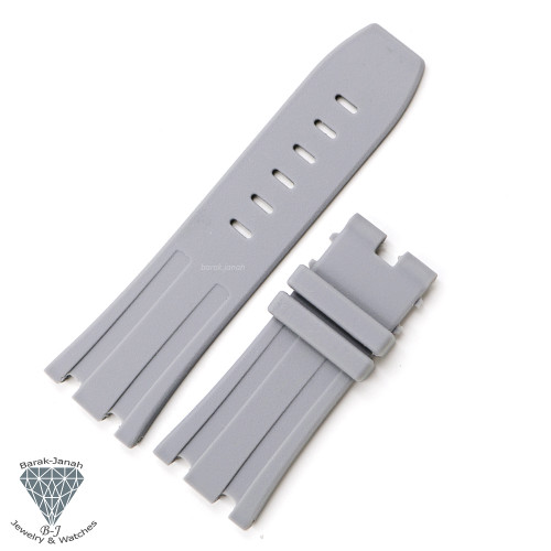 28mm Gray Rubber Band Straps For AP Audemars Piguet + Tools