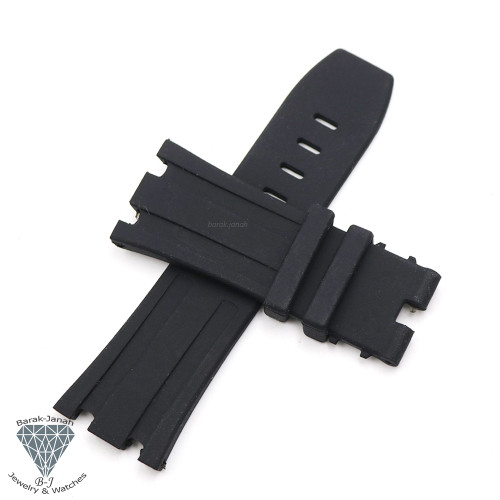 28mm Black Rubber Band Straps For AP Audemars Piguet  + Tools