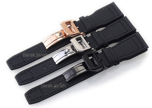 22mm Straps For  IWC Pilot Watch with Deployment Clasp