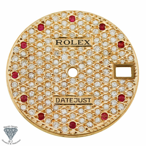 Iced Out Diamond Dial For Rolex Lady Datejust 26mm Ref. 69174 6917 69179 Watches