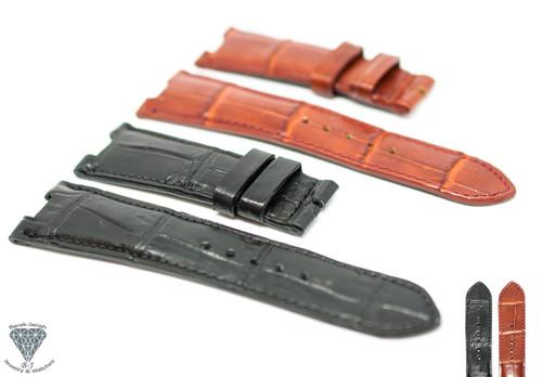 25mm Real Alligator Crocodile Handmade Straps For Patek Philippe Nautilus