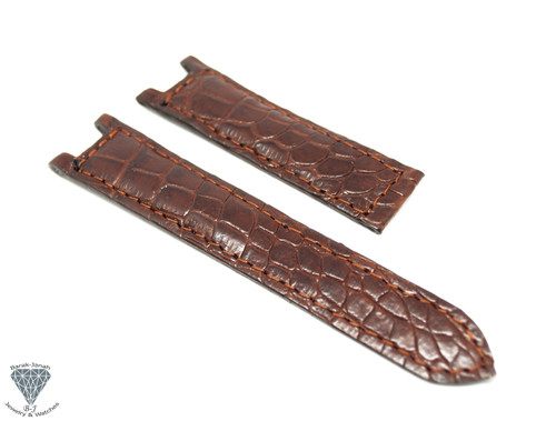 20mm Brown Alligator Crocodile Handmade Straps For Cartier Pasha watches