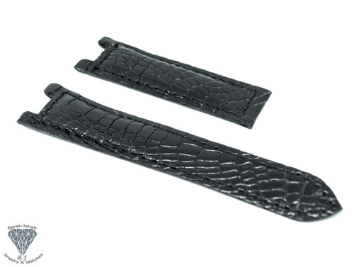 20mm Black Alligator Crocodile Handmade Straps For Cartier Pasha watches
