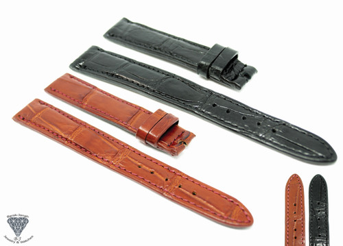 16mm x 14mm Real Alligator Crocodile Handmade Straps For Patek Philippe Watches