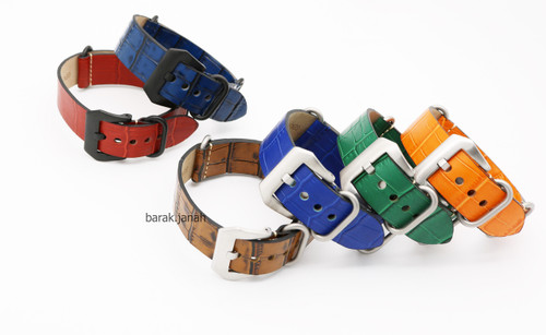 Nato Military Leather Straps With Buckle + Tools