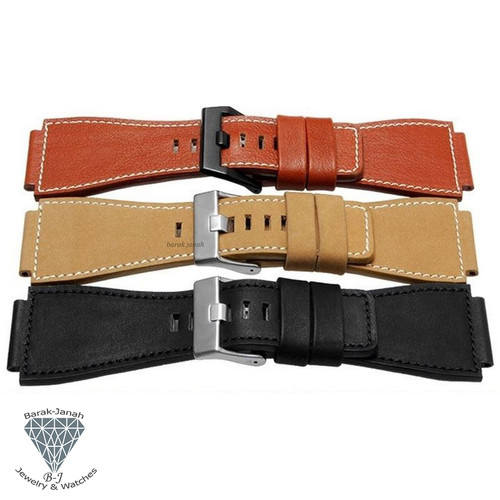 24mm Leather Strap Watch Band For Bell & Ross + Tools