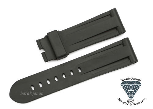 24mm Black Rubber Straps Band For Panerai PAM watches + Tools