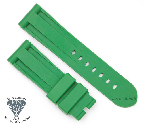 24mm Green Rubber Straps Band For Panerai PAM watches + Tools