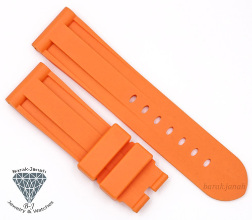 24mm Orange Rubber Straps Band For Panerai PAM watches + Tools