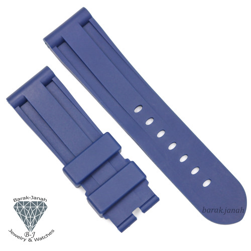 24mm Blue Rubber Band For Panerai PAM watches + Tools