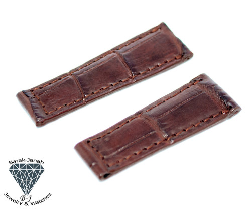20mm Brown Real Alligator Crocodile Handmade Straps For Rolex Daytona Watches