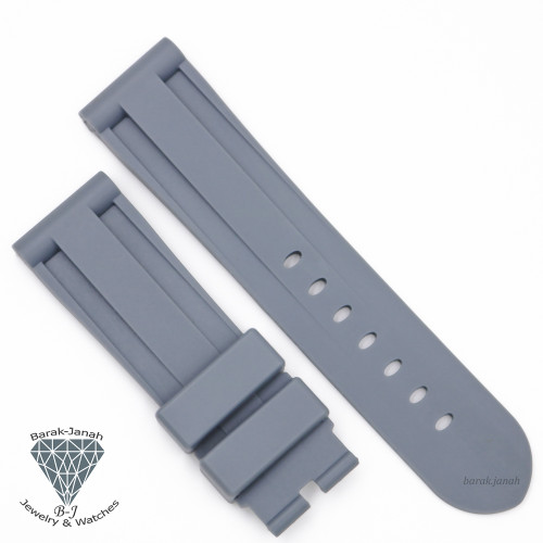 24mm Gray Rubber Straps Band For Panerai PAM watches + Tools