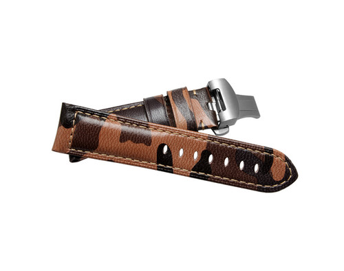 Leather Military Camo Watches Straps With Deployment Clasp + Tool