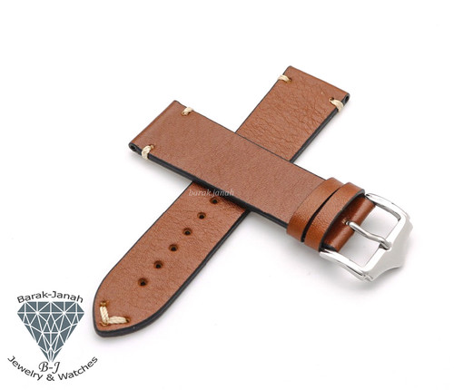 Handmade Brown Vintage Leather Straps Watches + Tool