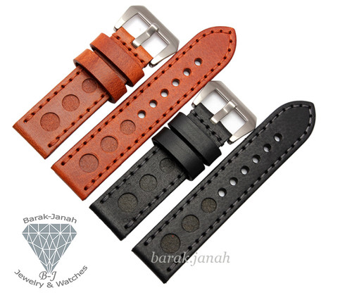 24mm Real Leather Handmade Straps Band for Panerai Watches With Buckle + Tools