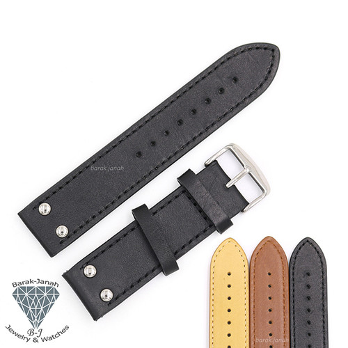 22mm Vintage Leather Straps For Military Pilot Watches with Buckle + Tools