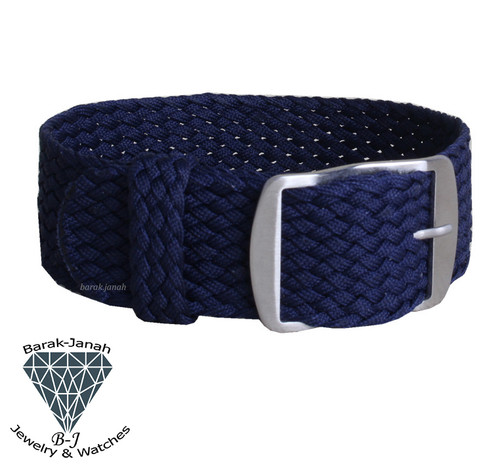 20mm Blue Vintage Nato Perlon Braided Straps  + Tools