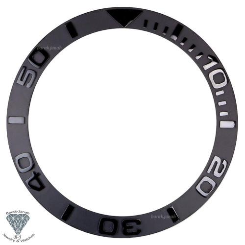 Black Ceramic Bezel Insert For Rolex Yacht-Master 40mm Watches