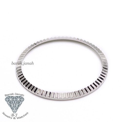 Silver Bezel insert For Rolex Datejust Day-Date Watches 36mm 1600 1800