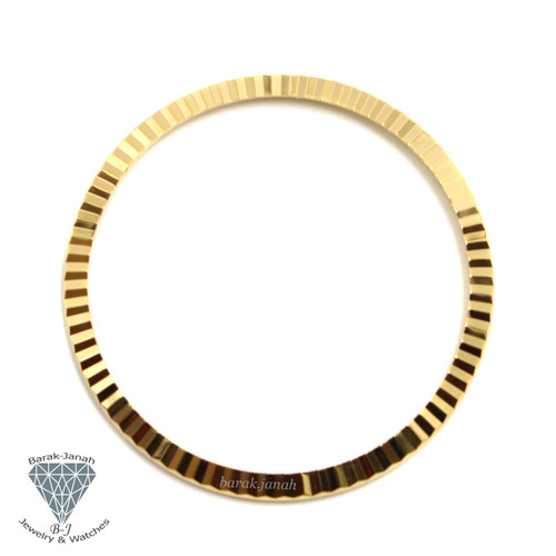 14K Gold Plated Bezel insert For Rolex Datejust Day-Date Watches 41mm