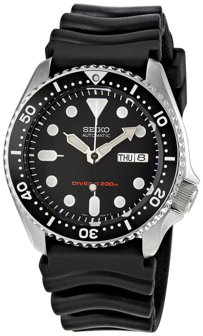 Seiko Diver SKX007K1 With Rubber Band Men's Watch -Free DHL Shipping