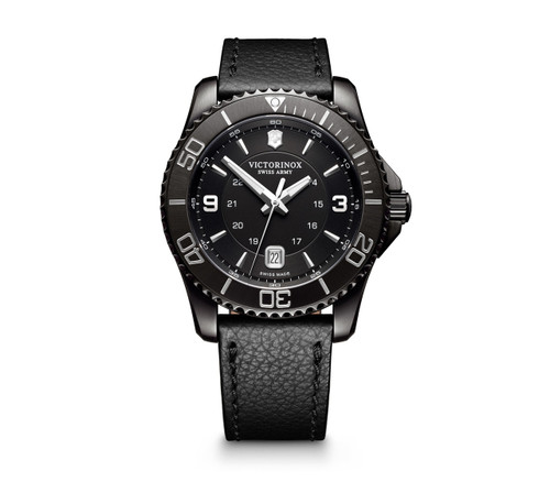 Victorinox Maverick Large Black Edition Swiss Army 241787 Men's Watch 43mm