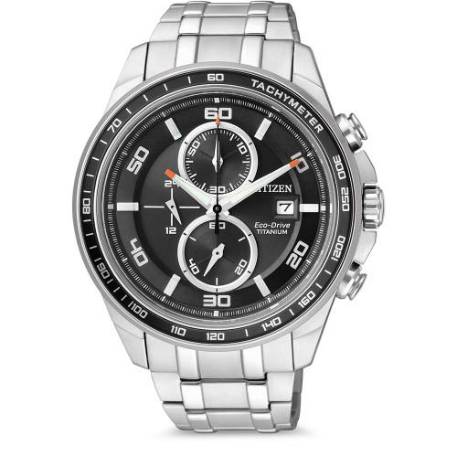 Citizen Eco Drive Titanium Chronograph CA0340-55E Men's Watch