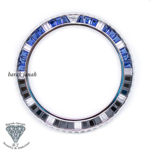 Bezel Insert For Rolex GMT-Master II 116710 BLNR Baguette Cut Stone Custom Bezel