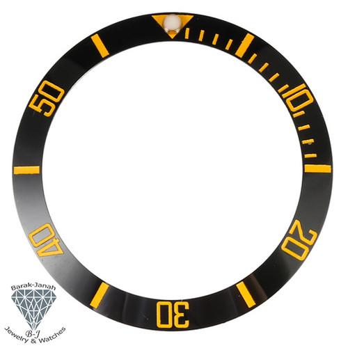 Black Gold Ceramic Bezel Insert for Seiko SKX007 Watches MOD