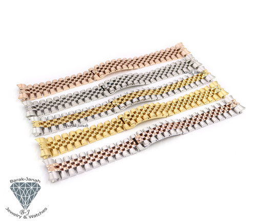 21mm Jubilee Bracelet Band For Rolex Datejust Watches + Tools