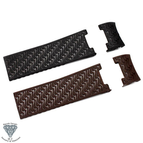 Rubber Watch Band Straps For Ulysse Nardin Marine Diver Watches