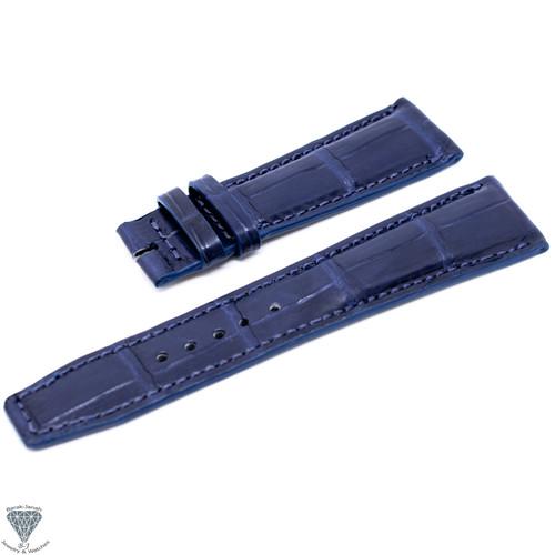 22mm Blue Handmade Straps For IWC Schaffhausen Pilot Watches