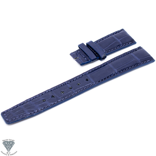 20mm Blue Handmade Croco Straps For IWC Portuguese Watches